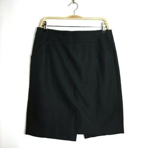 J. Crew The Pencil Skirt in Black Cotton